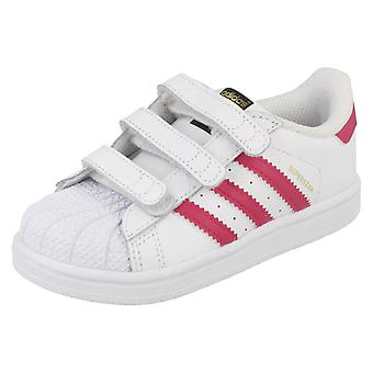 Infant Girls Adidas Casual Trainers Superstar CFI