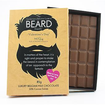 Funny Valentine's Day Gift for Bearded Men Beard Lover Present Chocolate Greeting Card BTQ116