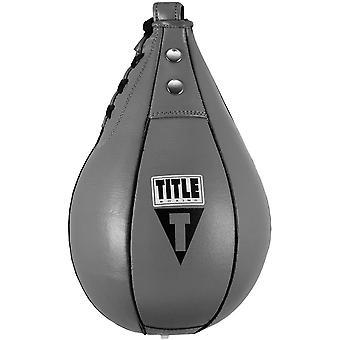 Titolo Boxe Super Fast Leather Speed Bag - Grigio