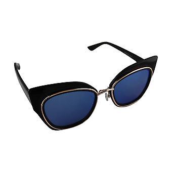 Sunglasses UV 400 Cat Eye black Blauw1844_2