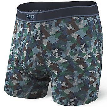 SAXX Daytripper Mini Camo Fly Boxer Brief, Blue