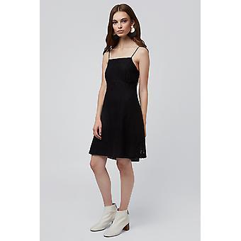 Louche Marna Lace Empire Waist Cami Dress Black