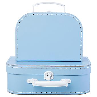Sass & Belle Set Of 2 Pastel Blue Suitcases
