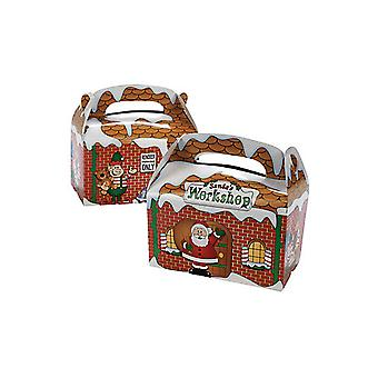 SPRZEDAŻ - 12 Santas Workshop Christmas Treat lub Party Food Lunch Boxes