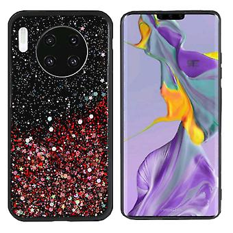 BackCover Spark Glitter TPU + PC voor Huawei Mate 30 Rood