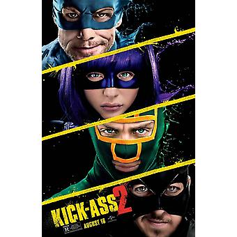 Kick-Ass 2 Double Sided Original Movie Poster - Advance Style B