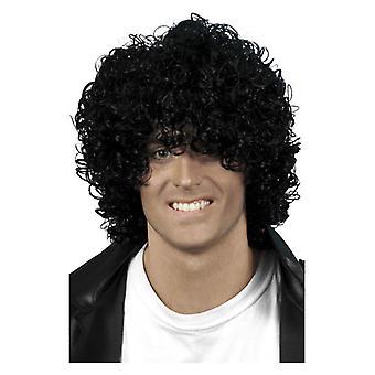 Hombres Afro mojar mirada peluca negro disfraces accesorios