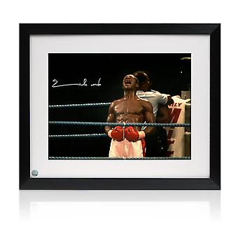 Chris Eubank Signed Boxing Photo: Simply The Best. Framed