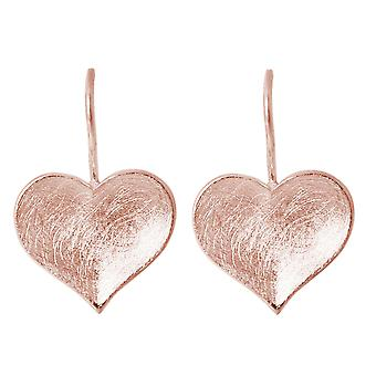 GEMSHINE women's earrings HEART solid 925 silver, gold plated or rose