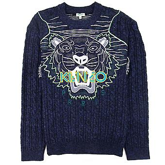 Kenzo Claw Tiger Knitted Jumper Bleu