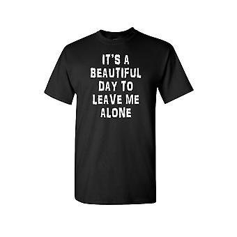 Unisex er det en vakker dag til å la meg alene kort ermet skjorte