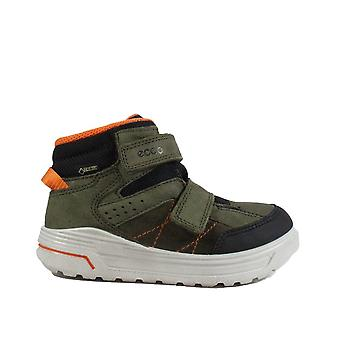 Ecco Urban Snowboarder 722192 59637 Green Nubuck Leather Boys Gortex Rip Tape Ankle Boots