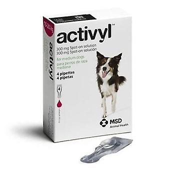 Activyl Spot-On for Medium Dogs 22 - 44 lbs (10-20 kg) - 4 Pipettes