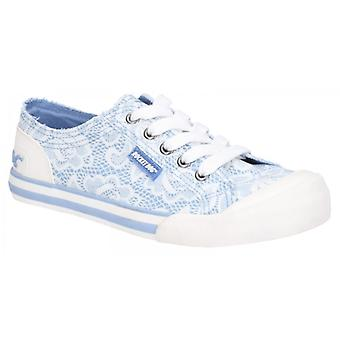 Rocket Dog Jazzin Plaza Ladies Cotton Casual Trainers Blue