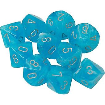Chessex d10 Dice Set Luminary Sky/ Silver