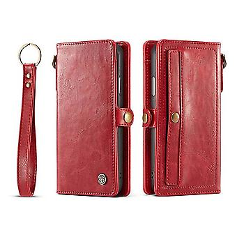 Case For IPhone X Red Card Holder