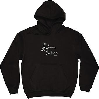 Cocaine Black Hooded-Top