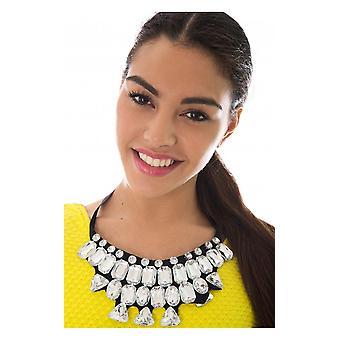 Collar Diamante Ribbon en negro