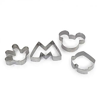 Disney's Mickey Mouse Cookie Cutter 4-Piece Set