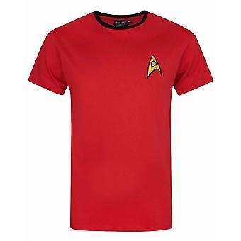 Star Trek Security and Operations Uniform Red James T Kirk Men's T-Shirt