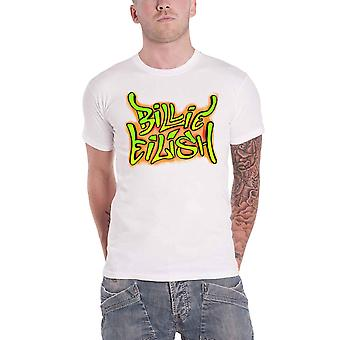 Official Billie Eilish T Shirt Graffiti Logo When We All Fall Asleep White