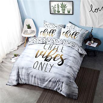 Chill Slogan Bedding Set - Double