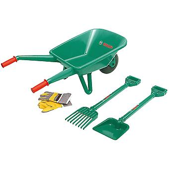 Theo Klein Bosch Mini Garden Set With Wheelbarrow Toy 4 PCs