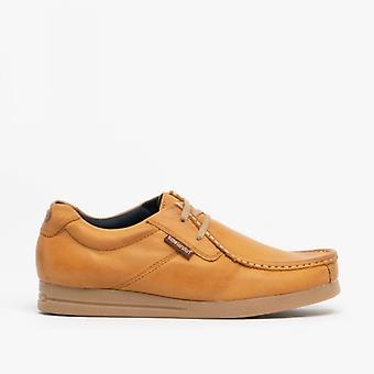 Base London Event Mens Leather Moccasin Shoes Tan
