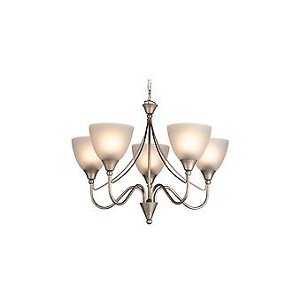 Firstlight Floral Antique Satin Steel 5 Wall Sconce Fitting