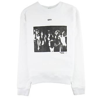 Off-White Off Hvid Spray Paint Crewneck Sweatshirt Hvid