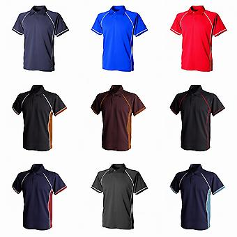 Finden & Hales Kids Unisex Piped Performance Sports Polo Shirt