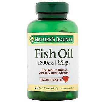 Natur ' s Bounty fiskeolje, 1200 mg, rask utgivelse Softgels, 120 EA