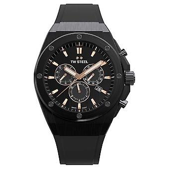 TW Steel | CEO Tech | Limited Edition | Chronograaf | Zwart rubber | CE4044 Watch