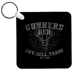 Dawn Of The Dead Gunners Den Logo Keyring