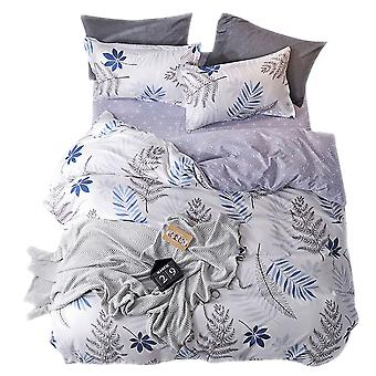Quilt cover bedding, including quilt cover and 1 pillowcase, plant fresh pattern bedding