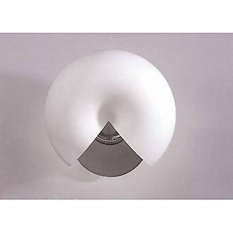 Fosil Wall Lamp Switched 2 Light G9, Satin Nickel/frosted White Glass