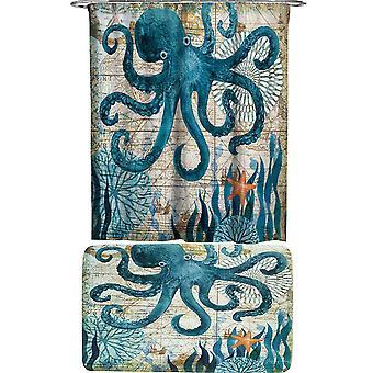 Octopus Shower Curtains set 2 Piece