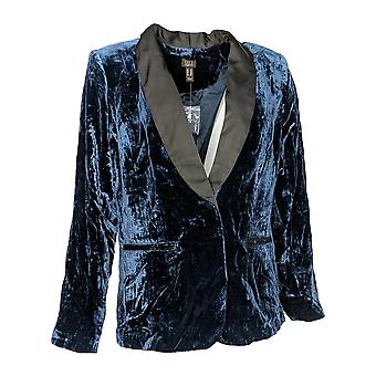 G.I.L.I. got it love it Women's Blazer Velvet w/ Satin Lapel Blue A345184
