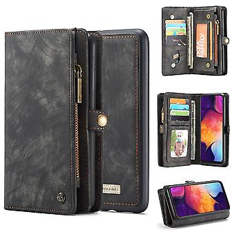 Para Samsung Galaxy S10 5G caso negro PU cuero Folio Cover