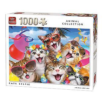 Kings Cats Selfie Jigsaw Puzzle, 1000 Piece