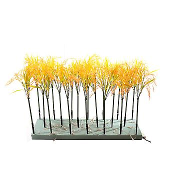 Jandei Zestaw Lamp Roślin Dekoracyjny Ryż 20 Łodygi Yellow Light 3000K