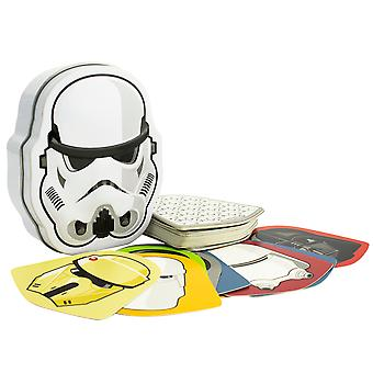 Dark Side Shuffle Juego de cartas en Stormtrooper forma Tin Licensed Star Wars