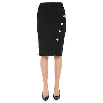 Boutique Moschino 011161160555 Women's Black Polyester Skirt