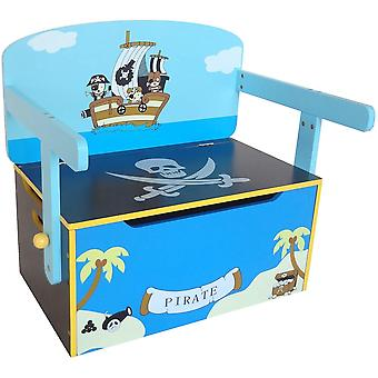 Kiddi Style Pirate Convertible Toy Box And Bench