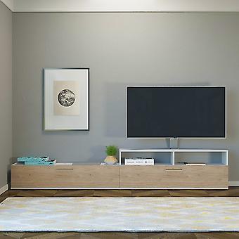 Mobiele tv-deur Siri Color Natural Wood in Melaminic Chip 240x24x43 cm