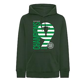 Celtic FC Official Champions 9 In A Row Mens Hoody Football Gift