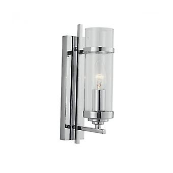 Milo Wall Lamp, In Chrome And Glass