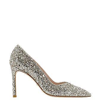 Stuart Weitzman Annycofpyb Women's Gold Glitter Pumps