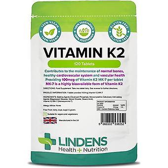 Lindens Vitamine K2 100mcg Tabletten 120 (6252)