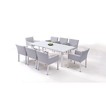 Alu Dining Group Mellow 8 - selyemszürke